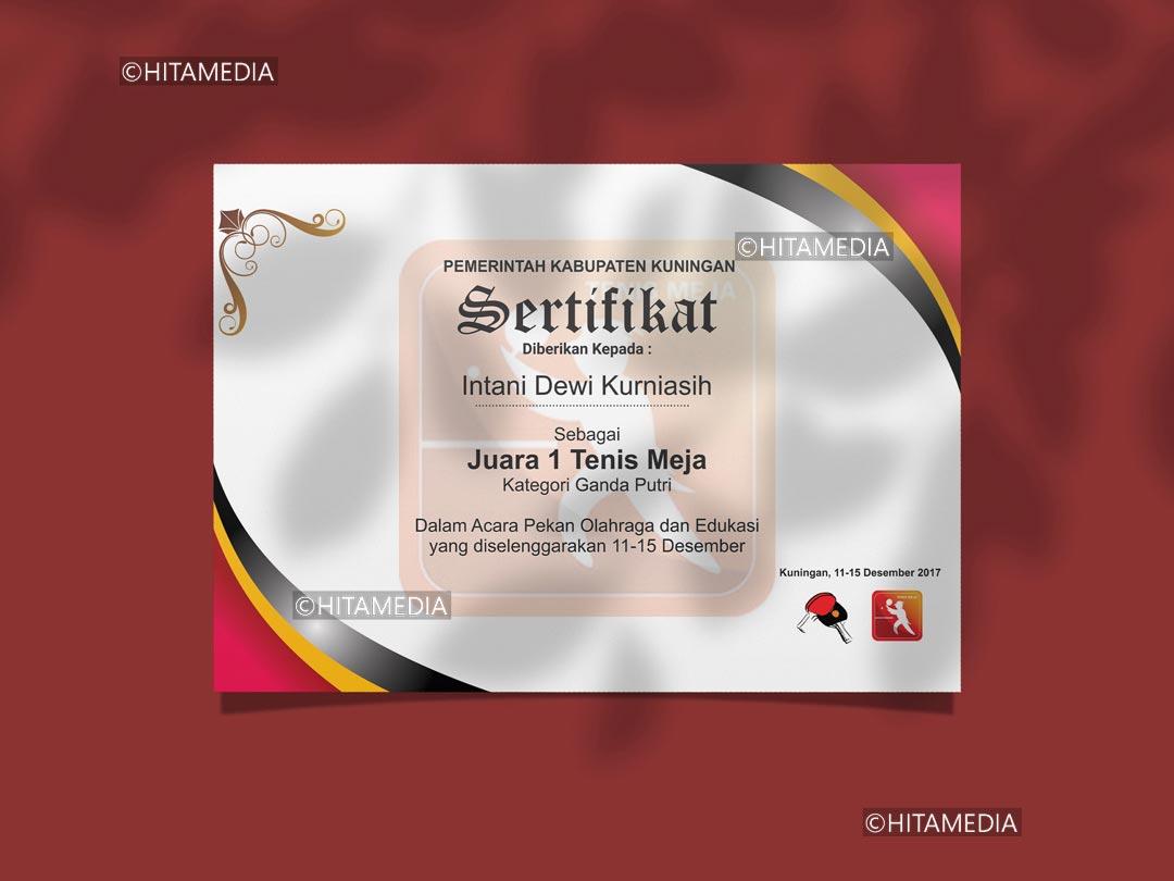 portofolio Jasa Desain Sertifikat Bandung